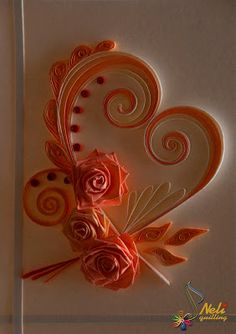 Neli Quilling Art: Quilling cards - With love...- 4