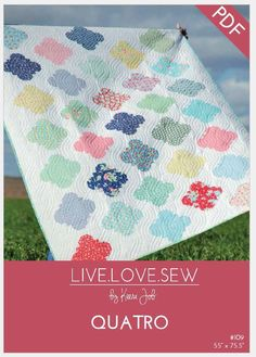 Quatro is a sure to be your next favourite! Layer-cake friendly, this quilt is quick and simple to piece, shows off your fabric…