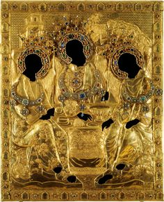 Oklad (cover) of the trinity icon by Andrei Rublev