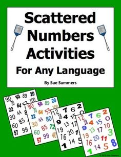 Spanish Numbers Or Any Language Numbers Activities by Sue Summers - Use for numbers games, pronunciation practice, and numbers writing practice.