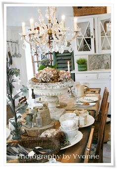gorgeous urn & love the china cabinet doors...hubba, hubba