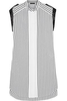 Belstaff Chatsworth satin-trimmed cotton dress NET-A-PORTER.COM