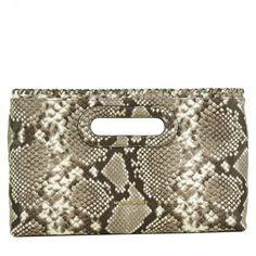 Abro Tasche – Zoe Croc Calf Leather Handbag Black – in schwarz – Henkeltasche für Damen