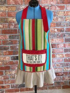 Woman's reversible full Christmas apron that says it all! Christmas Aprons, How To Wear, Design, Women, Fashion, Moda, Women's, La Mode, Fasion