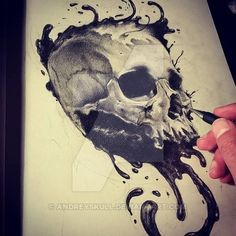 ink skull IV by AndreySkull