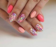 Owocowy, kolorowy Mix! Radość  Weekend  Zabawa  Barwna stylizacja 130, 033, 034, 022, 001 #weekend #shake #fun #happy #joy #mix #friday #fruits #colours #colorshake #longnails #seminails