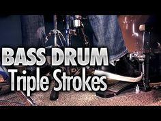 Bass Drum Triple Strokes - Free Drum Lessons
