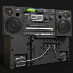 I have started this model about a year ago as an exercise in getting things done =) It took way more time than I've expected. Cool Tech, Boombox, Retro, Sony, Nostalgia, Men Casual, Child, Random, Projects