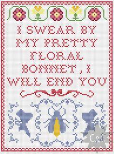 Firefly cross stitch