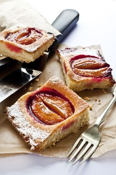 German Pflaumenkuchen (Plum cake), Poached Plums And My New Website