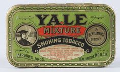 Yale Mixture Flat Pocket Advertising Tobacco Tin