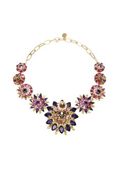This Swarovski crystals necklace is the epitome of luxury and elegance with an artisan touch. #Versace #VersaceWomenswear