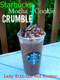{DIY} *Starbucks* Mocha Cookie Crumble Frappucino {Save $$$} | ~Lady With The Red Rocker~