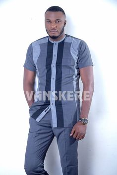 Ace menswear fashion designer Vanskere is out with its new classic collection. The signature style of Vanskere is made bold in these designs for the - BellaNaija Style. African Wear Styles For Men, African Shirts For Men, African Dresses Men, Ankara Styles For Men, African Clothing For Men, African Attire, Nigerian Men Fashion, African Men Fashion, Africa Fashion