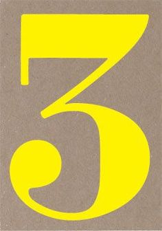The Number 3 | Typography Study