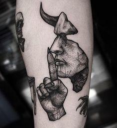 Blackwork devil tattoo on the forearm- Blackwork devil tatto.- Blackwork devil tattoo on the forearm- Blackwork devil tattoo on the forearm - - Devil Tattoo, Dark Tattoo, Big Tattoo, Tattoo Arm, Club Tattoo, Black Ink Tattoos, Body Art Tattoos, Small Tattoos, Sleeve Tattoos For Women