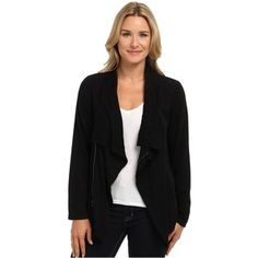 Mod-o-doc Rayon Twill Easy Drape Moto Cardigan Women's Sweater