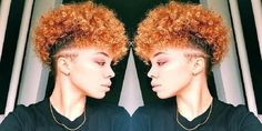 Short Natural Black Hairstyles with Mohawk Style