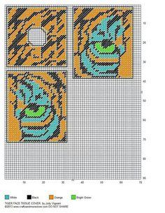 Tiger Tissue Box Cover