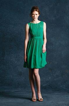 Emerald green bridesmaids dress
