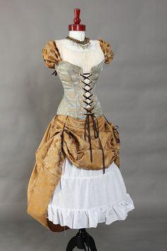 Waist 40 to 42 Cinderella Princess Corset by damselinthisdress, $125.00