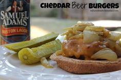 Cheddar Beer Burgers