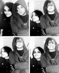 FRERARD ❤ I love how Frank looks calm and collected in the first three pictures, then he's all mental and psychotic in the fourth