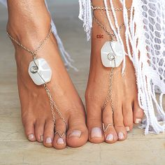 Women Barefoot Wedding Sandals White Ocean Shell by ccfashionstr Barefoot Sandals Wedding, Foot Bracelet, Ankle Jewelry, Ankle Chain, Bronze, Bare Foot Sandals, Fashion Accessories, Bling, Etsy