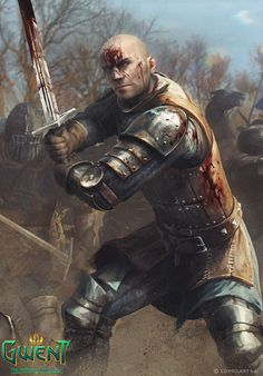 ArtStation - Blue Stripes Commando - Gwent Triptych, Anna Podedworna