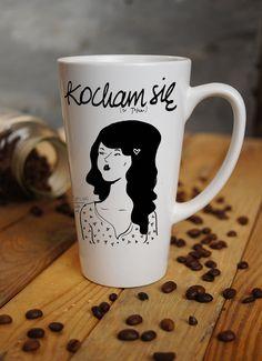 #dawandawalentynki w czym wypić walentynkową kawę? :) Walentynki - latte duże - StudioAgama - Kubki i filiżanki  