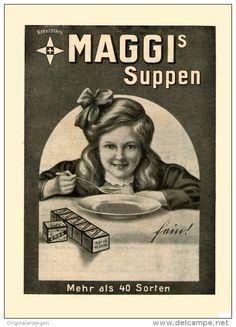 Original-Werbung/Inserat/ Anzeige 1912 : 1/1 SEITE MAGGI´S SUPPEN ca. 180 x 260 mm