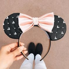 Another quilted release for tomorrow's drop! If you love the pink quilted Minnie mouse ears then you'll love these too!