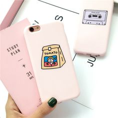 Cute Pink Cartoon Simple Pattern Soft Silicone Case Cover For Iphone 6 7 Plus Iphone 7, Coque Iphone, Iphone Phone Cases, Cell Phone Covers, Cute Cases, Cute Phone Cases, Objet Wtf, Accessoires Iphone, Lg Phone