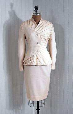 Wedding Suit  Lilli Ann, 1940s  Timeless Vixen Vintage