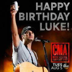 On July 17th, 1976, God blessed us all with the most gorgeous, hott, sexy, adorable, cute, charming, and funny person on the planet...Luke Bryan ❤️❤️❤️