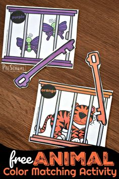 FREE Animal Color Matching Activity is such a cute math activity for preschoolers to go along with a zoo theme. Zoo Preschool, Preschool Colors, Preschool Themes, Kindergarten, Zoo Animal Activities, Educational Activities For Toddlers, Zoo Crafts, Learning Colors, Circle Time