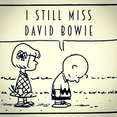 I love David Bowie. Also Charlie Brown. I think they coincide. David Bowie Labyrinth, Bowie Starman, The Thin White Duke, Goblin King, Ziggy Stardust, David Jones, Playing Guitar, Charlie Brown, My Idol