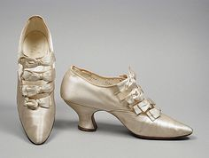 Pair of Woman's Barrette Shoes, circa 1912