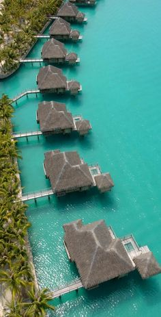 st. regis resort, bora bora.  Would LOVE for this to be my honeymoon!!!!!