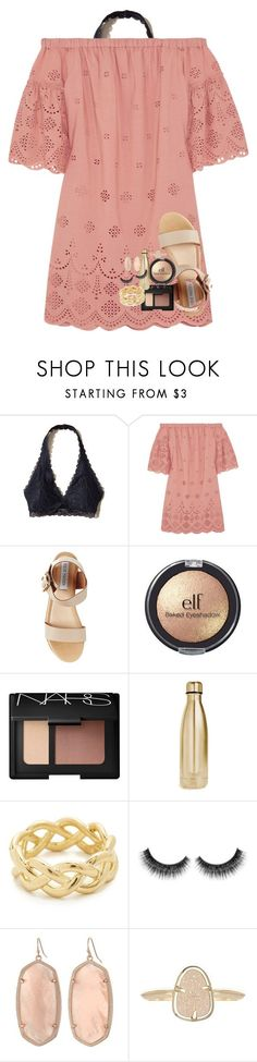 """""""christian pickup lines in the d"""" by lindsaygreys ❤ liked on Polyvore featuring Hollister Co., Madewell, Steve Madden, e.l.f., NARS Cosmetics, S'well, Soave Oro and Kendra Scott"""
