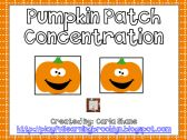 Pumpkin Patch Concentration product from Playful-Learning-Brooklyn on TeachersNotebook.com $1.00