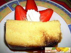 Flan de manzana en microondas Flan, Creme Caramel, Deli, Cornbread, Vanilla Cake, Diet Recipes, Microwave, Cheesecake, Cookies