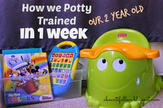 How We Potty Trained Our Two year Old in 1 Week. Potty Training for 2 yr olds