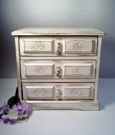 French Cottage Jewelry Box/Music by WeeLambieVintage on Etsy, $75.00