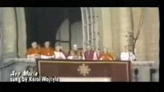 Pope John Paul II singing the Ave Maria. Knowing his love for our Lady, it seems he is singing with his whole heart and soul. <3