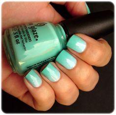 Blue & Turquoise Gradient Nails