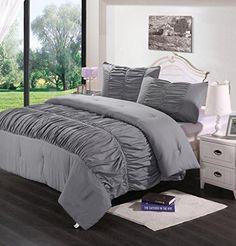 Homehug® 1800 Thread Count 3Pc Microfiber Soft 100% Polyester Brushed Bed Sheets Comforter Sets Queen Size Color Grey (King Size) HOMEHUG http://www.amazon.com/dp/B00QLEVLD4/ref=cm_sw_r_pi_dp_caY3ub0Q9RSBP