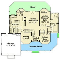 Plan 72845DA: Country House Plan With Vaulted Spaces