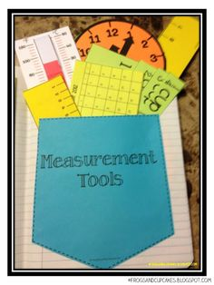 This colorful measurement tool packet is a great idea to put in all of the students' math notebooks. The tools include clocks, grids, thermometers, increments for liquid, and rulers. This way any thing that your student might need is in one convenient place.