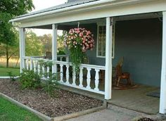 Small+Front+Porch+Ideas | The Silhouette Front Porch - Monsour Sheep Farm and Vacation Homes